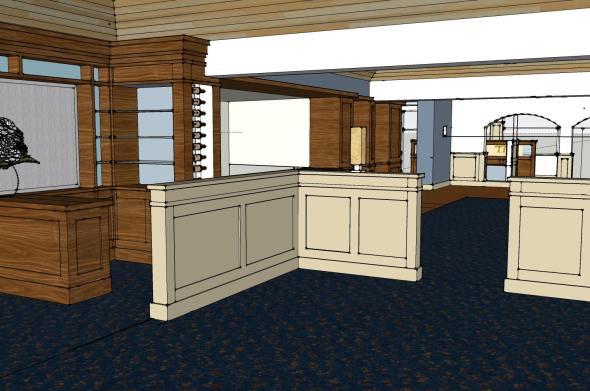 1224- Restaurant 3d Model_Additional Screen & Shelving_Rev A-2